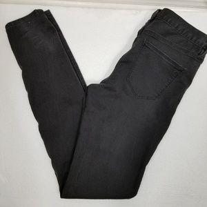 Madewell dark grey skinny jeans